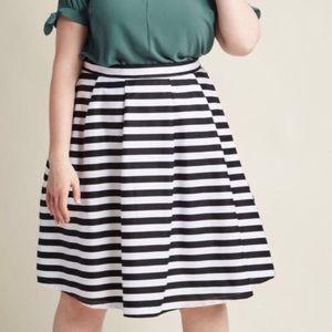 ModCloth Dusk and Stunner Striped Skirt 1X NWOT